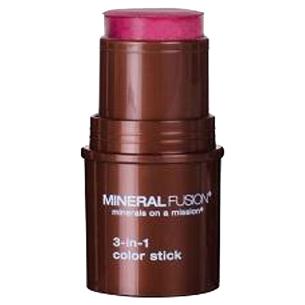 Mineral Fusion, 3-in-1 Color Stick, Berry Glow, .18 oz (5.1 g) (Discontinued Item)