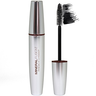 Mineral Fusion, Mascara volumateur, jais, 0,57 oz (17 ml)