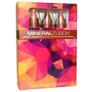 Mineral Fusion, Sheer Moisture Lip Tints, 3 Lip Tints, 0.1 oz (3 g) Each