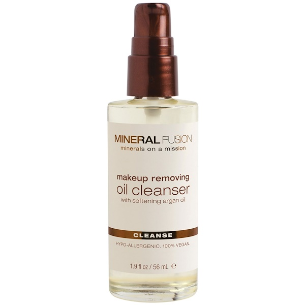 Mineral Fusion, Makeup Removing Oil Cleanser, Cleanse, All Skin Types, 1.9 fl oz (56 ml) (Discontinued Item)