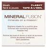 Mineral Fusion, ブラッシュ, フラッシー, 0.10 oz (3.0 g)