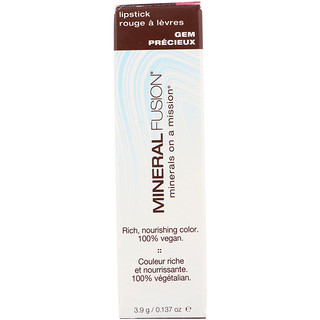 Mineral Fusion, Lip Stick, Gem, 0.137 oz (3.9 g)