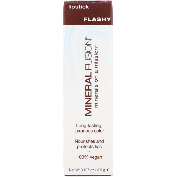 Mineral Fusion, Lip Stick, Flashy, 0.137 oz (3.9 g) (Discontinued Item)