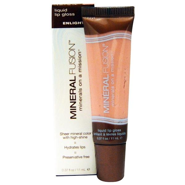 Mineral Fusion, Liquid Lip Gloss, Enlighten, 0.37 fl oz (11 ml) (Discontinued Item)