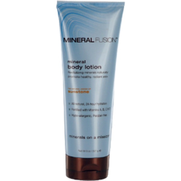 Mineral Fusion, Mineral Body Lotion, Sunstone, 8 oz (227 g) (Discontinued Item)