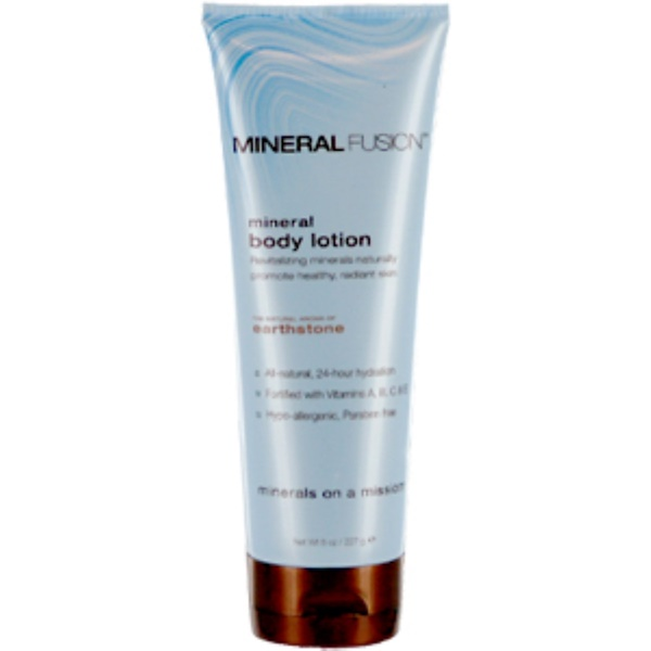 Mineral Fusion, Mineral Body Lotion, Earthstone, 8 oz (227 g) (Discontinued Item)