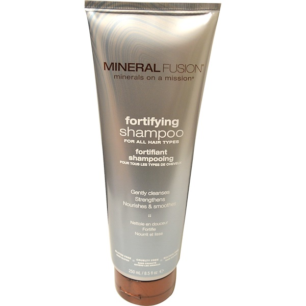 Mineral Fusion, Fortifying Shampoo, All Hair Types, 8.5 fl oz (250 ml) (Discontinued Item)