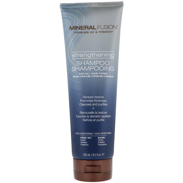 Mineral Fusion, Strengthening Shampoo, For All Hair Types, 8.5 fl oz (250 ml) (Discontinued Item)