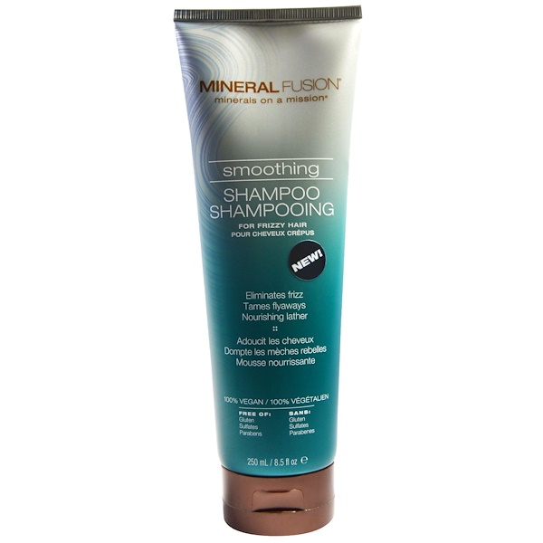 Mineral Fusion, Smoothing Shampoo, For Frizzy Hair, 8.5 fl oz (250 ml) (Discontinued Item)