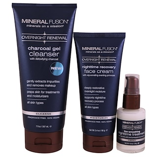 Mineral Fusion, Overnight Renewal, Deluxe Set, 3 Piece Set