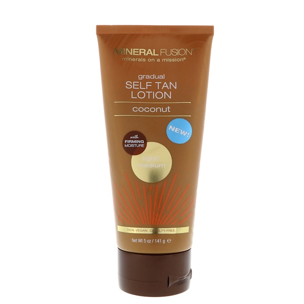 Mineral Fusion, Gradual Self Tan Lotion, Light/Medium, Coconut, 5 oz (141 g)