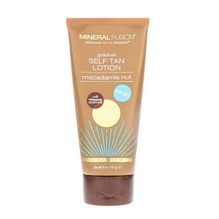 Mineral Fusion, Gradual Self Tan Lotion, Medium/Dark, Macadamia Nut,  5 oz (141 g)