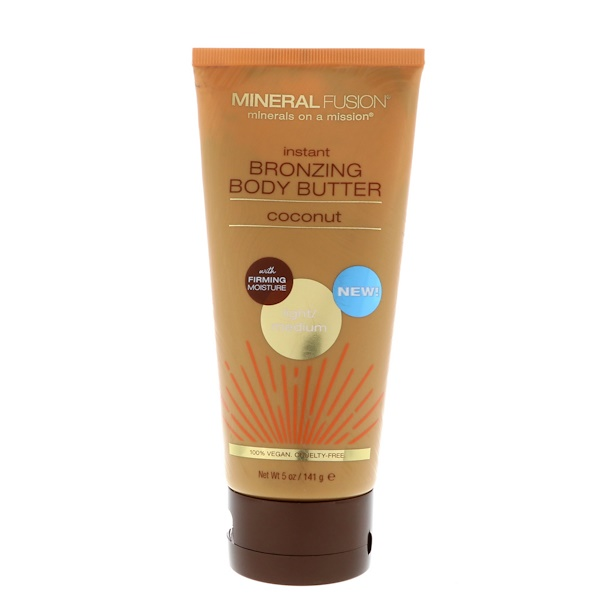 Mineral Fusion, Instant Bronzing Body Butter, Light/Medium, Coconut, 5 oz (141 g) (Discontinued Item)