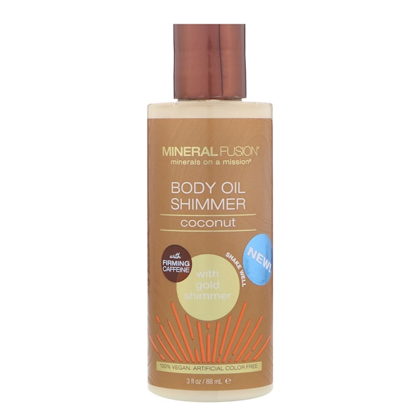Mineral Fusion, Body Oil Shimmer, Gold Shimmer, 3 fl oz (88 ml) (Discontinued Item)
