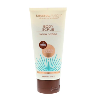 Mineral Fusion, Body Scrub, Kona Coffee, 5 oz (141 g)