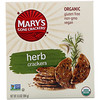 Mary's Gone Crackers, Organic, Galletas de Hierba, 6.5 oz (184 g)