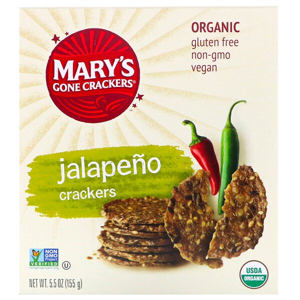Jalapeno Crackers, 5.5 oz (155 g)