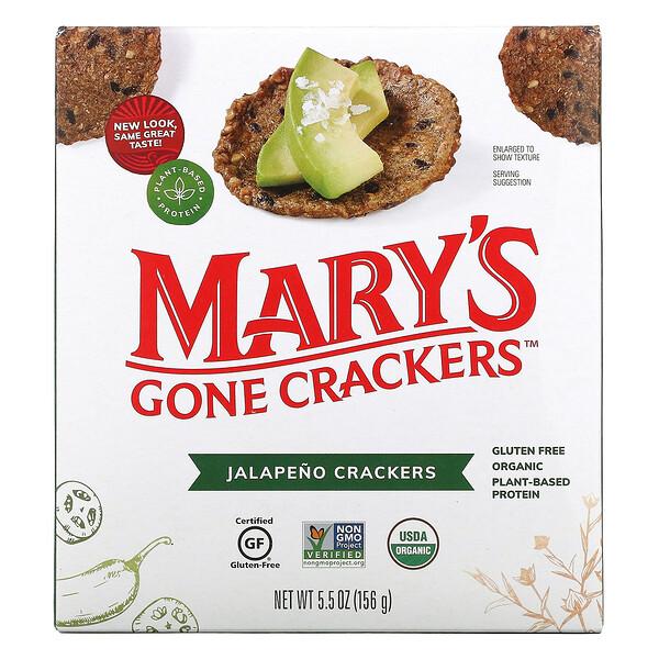 Mary's Gone Crackers, крекеры со вкусом халапеньо,156г (5,5унции)