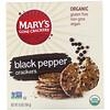 Mary's Gone Crackers, 흑후추 크래커, 184g(6.5oz)