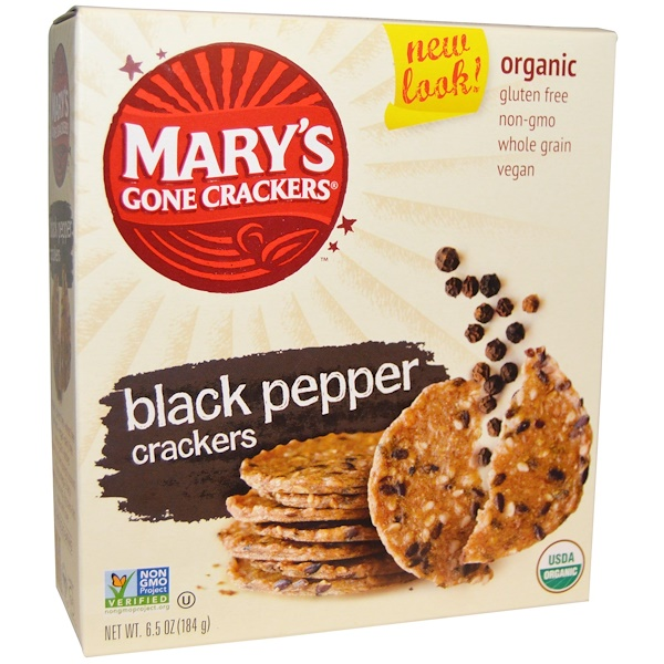 Mary's Gone Crackers, Organic, Black Pepper Crackers, 6.5 oz (184 g)