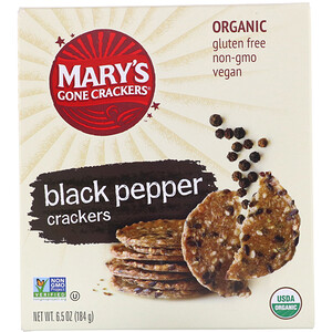 Мэри Гон Крэкэрс, Black Pepper Crackers, 6.5 oz (184 g) отзывы покупателей