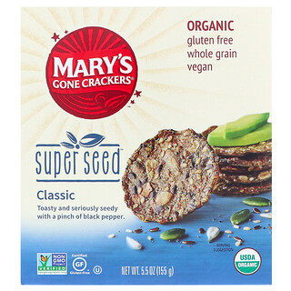 Mary's Gone Crackers, Super Seed Crackers, Classic, 5.5 oz (155 g)