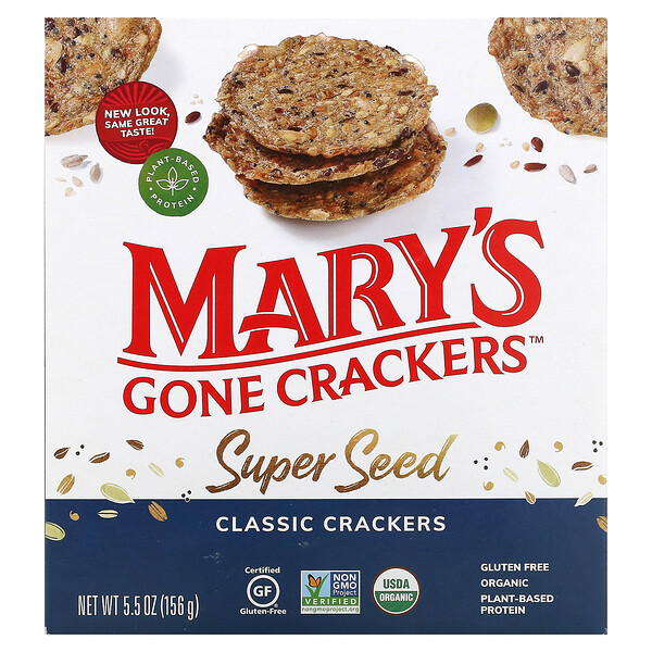 Mary's Gone Crackers, Super Seed Crackers, Classic, 5.5 oz (156 g)