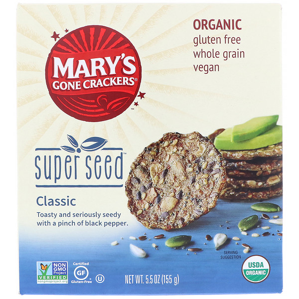 Mary's Gone Crackers, Organic, Super Seed Crackers, 5、5 oz (155 g)