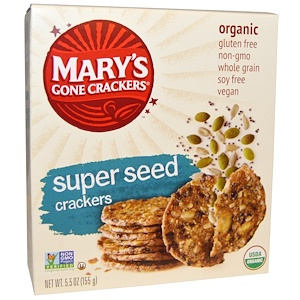 Mary's Gone Crackers, Organic, крекеры из супер-зерна, 5,5 унции (155 г)