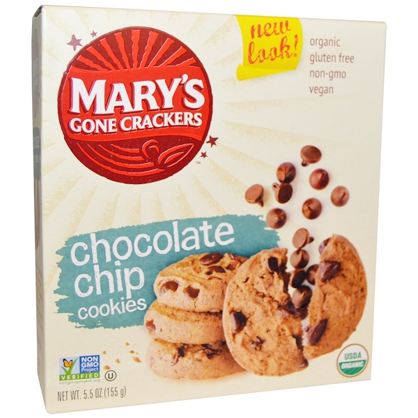 Mary's Gone Crackers, Organic, Chocolate Chip Cookies,  5.5 oz (155 g) (Discontinued Item)