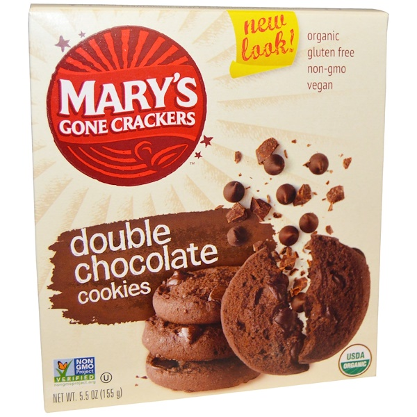 Mary's Gone Crackers, Double Chocolate Cookies, 5.5oz (Discontinued Item)