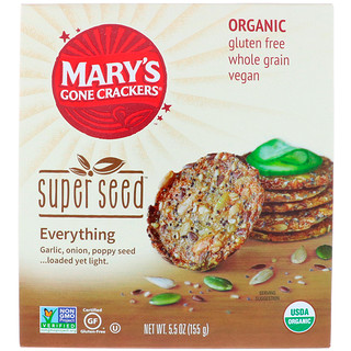 Mary's Gone Crackers, Super Seed Crackers, Everything, 5.5 oz (155 g)