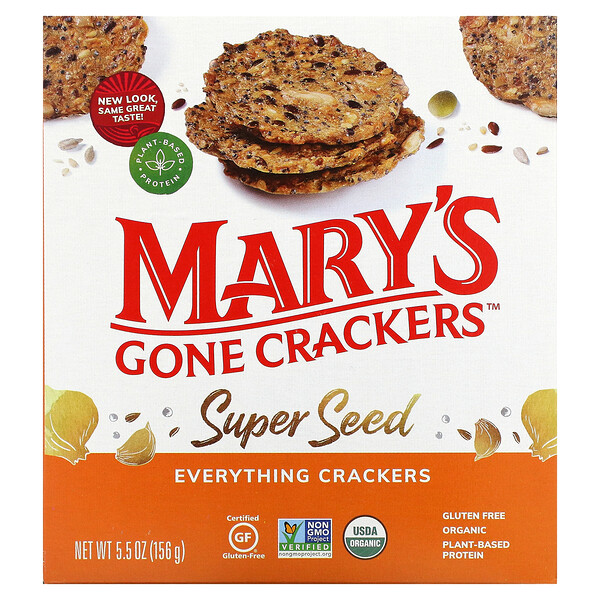 Super Seed Crackers, Everything, 5.5 oz (156 g)