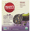 Mary's Gone Crackers, Galletas Super Seed, algas marinas y sésamo negro, 155 g (5.5 oz)