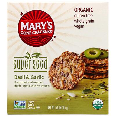 Купить Mary's Gone Crackers Super Seed Crackers, Basil & Garlic, 5.5 oz (155 g)