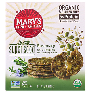 Mary's Gone Crackers, Super Seed Crackers, Rosemary, 5 oz (141 g)