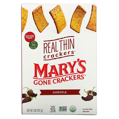 Купить Mary's Gone Crackers Real Thin Crackers, Chipotle, 5 oz (142 g)