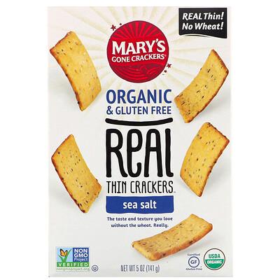 Купить Mary's Gone Crackers Крекеры Real Thin Crackers, морская соль, 141г