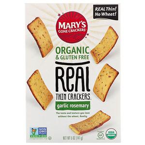 Мэри Гон Крэкэрс, Real Thin Crackers, Garlic Rosemary, 5 oz (141 g) отзывы