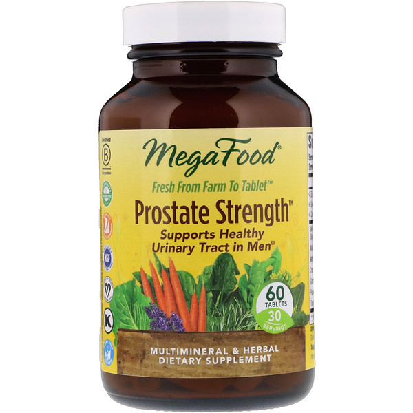 MegaFood, Prostate Strength, 60 Tablets
