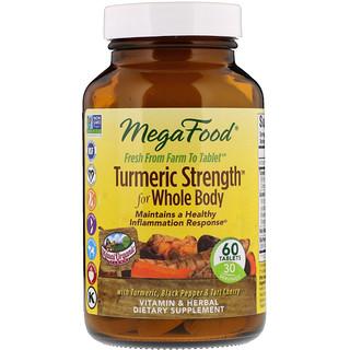 MegaFood, Kurkuma Stärke für den ganzen Körper, 60 Tabletten