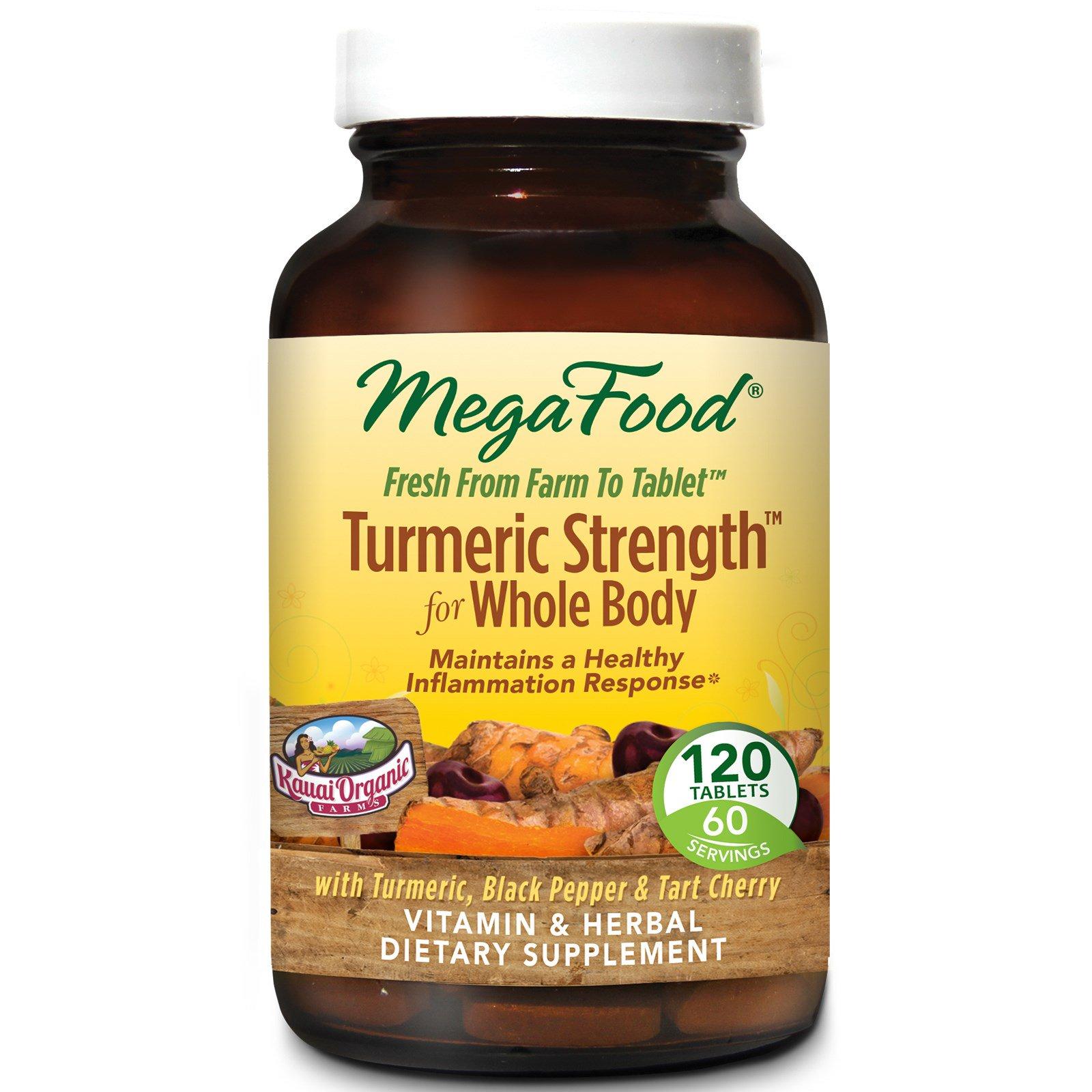 MegaFood, Сила куркумы для всего тела, 120 таблеток