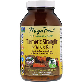 MegaFood, Kurkuma Stärke für den ganzen Körper, 120 Tabletten