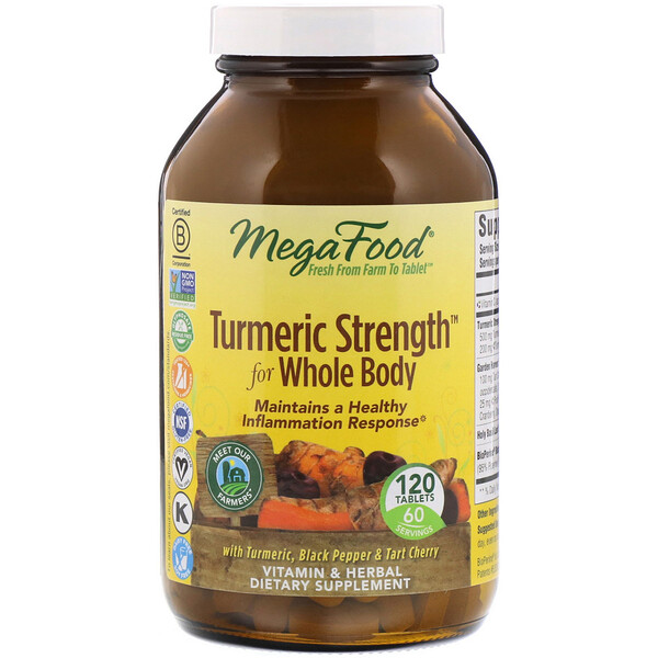 Turmeric Strength for Whole Body, 120 Comprimidos