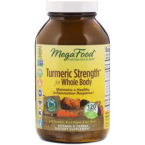 Мегафудс, Turmeric Strength for Whole Body, 120 Tablets отзывы покупателей