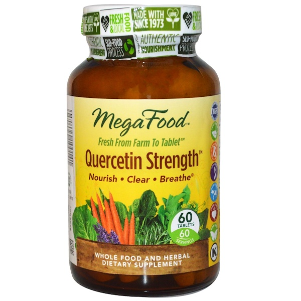 MegaFood, Quercetin Strength, 60 Tablets (Discontinued Item)