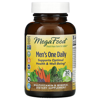 MegaFood, Men's One Daily, 30 Tablets