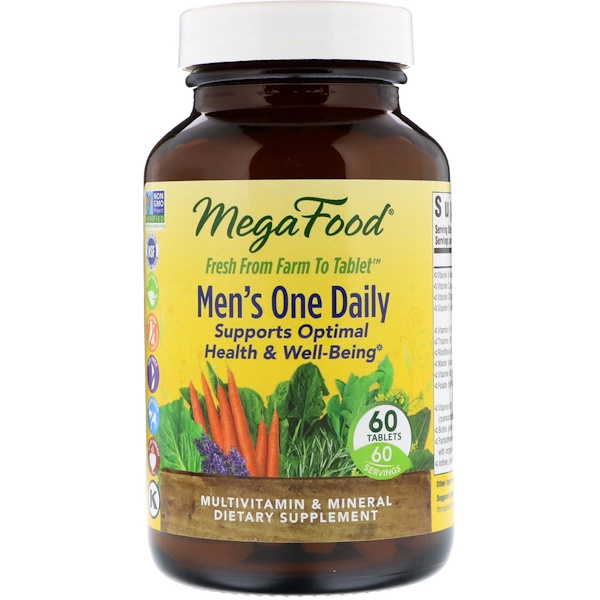 Men's One Daily, Iron Free, 60 Tablets