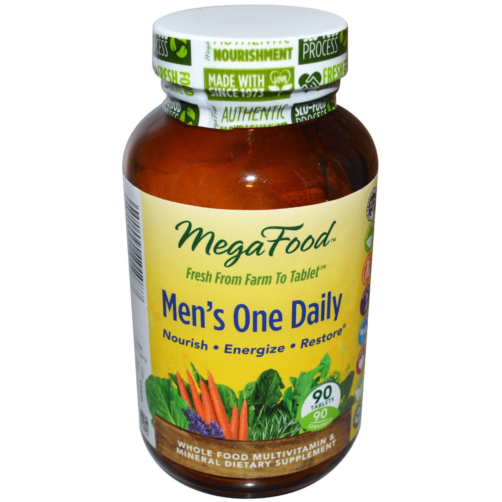 MegaFood, Ежедневные витамины для мужчин, без железа, 90 таблеток