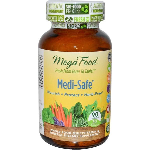 MegaFood, Medi-Safe, 90 Tablets (Discontinued Item)